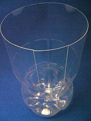 vas bunga botol plastik