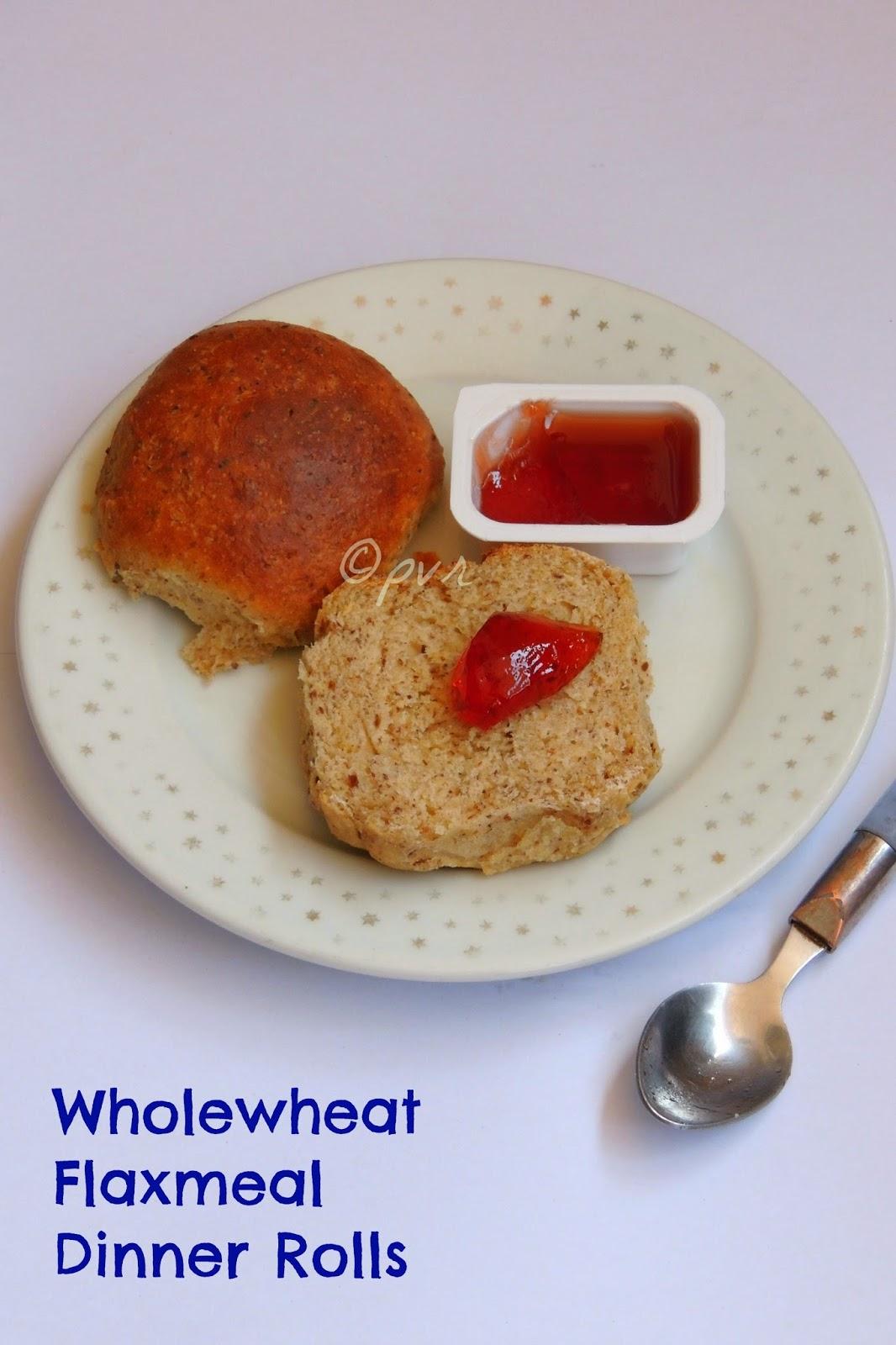 Eggless flaxmeal dinner rolls