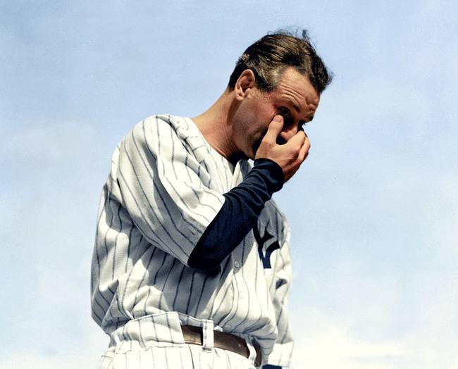Lou Gehrig, July 4, 1939.