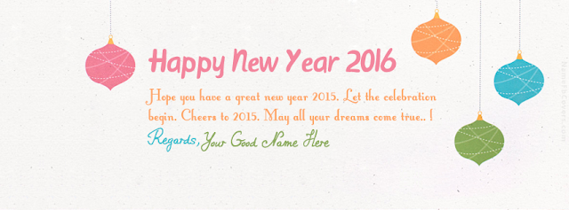 New Year 2016 Facebook Banner