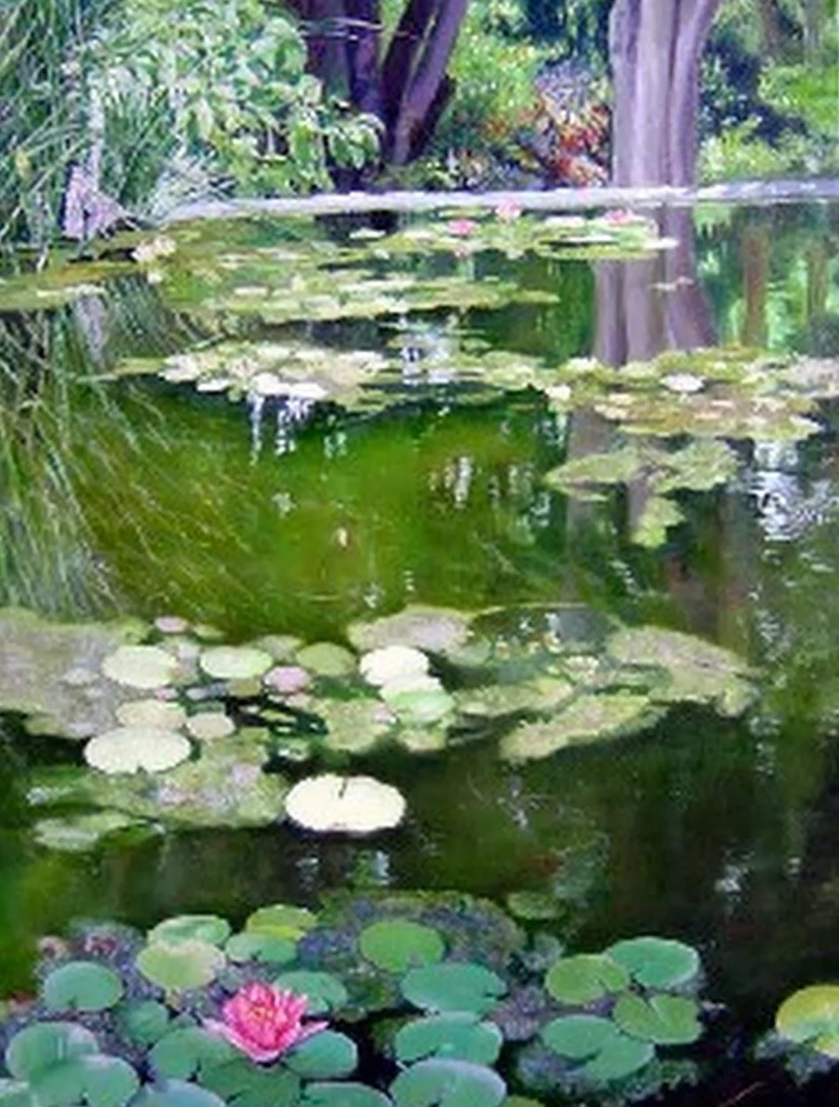 Cuadros pinturas oleos pinturas realistas paisajes con - Oleos de jardines ...