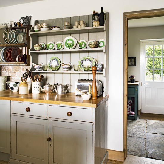 Modern Kitchen Shelves: Modern Country Style: Country Kitchen Rule Three: Open