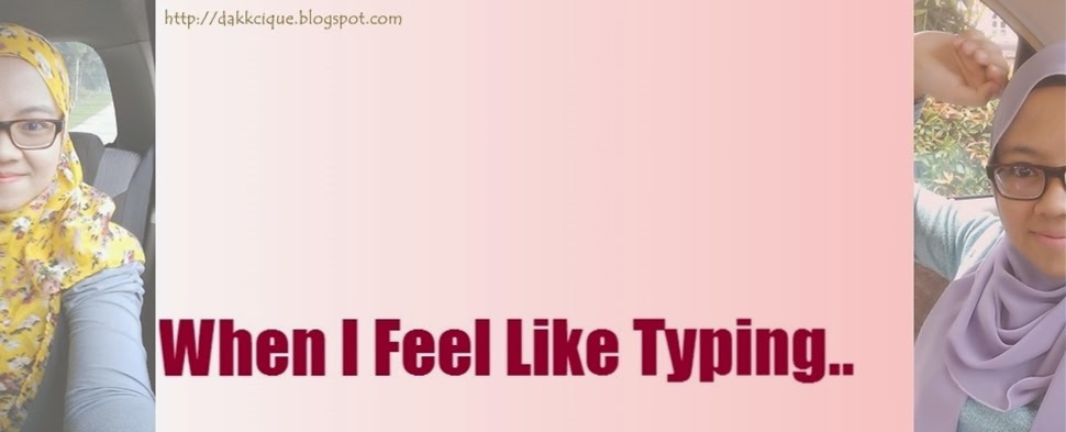When I feel like typing