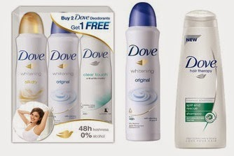 Flat 20% Off or more on Dove Skin Care, Hair Care, Body Care, Men's Grooming Products @ Flipkart