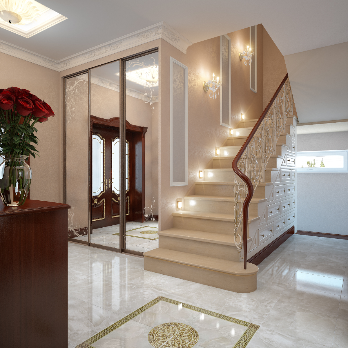 Hallway Interior Design Visualisations Hall Design: Hall. Visualization By Happy Irena