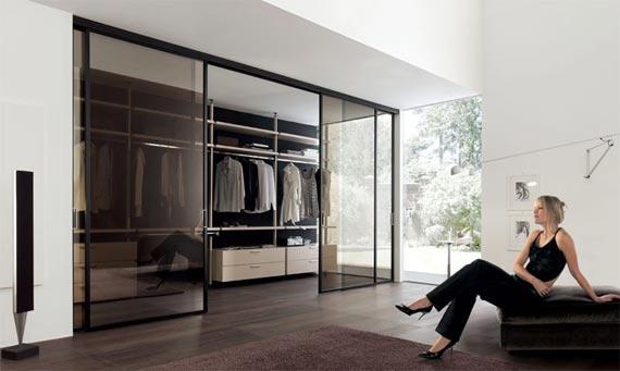 Walk in closet modernos azdeco for Closets modernos con television