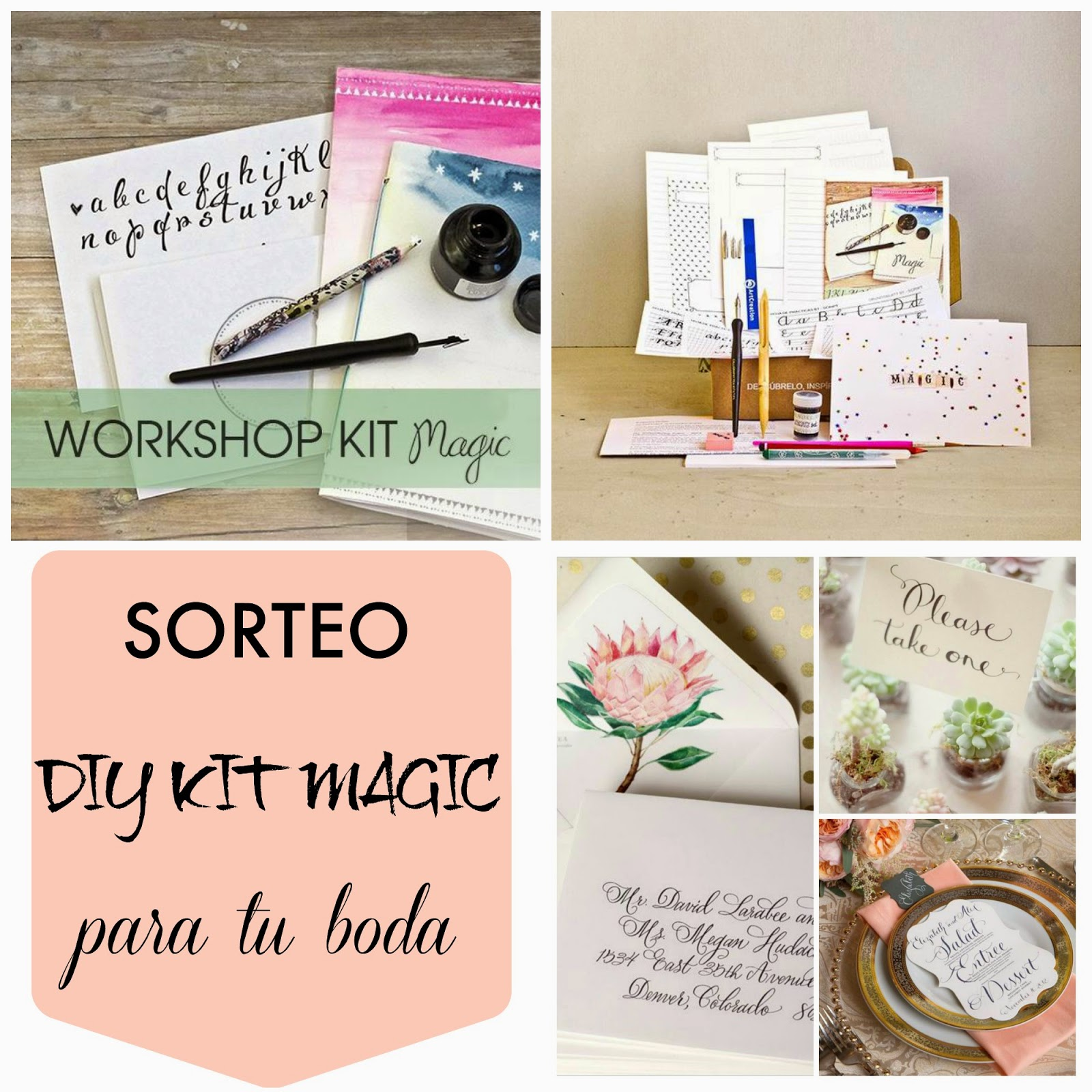 sorteo crealoo kit diy magic - lettering caligrafia para bodas