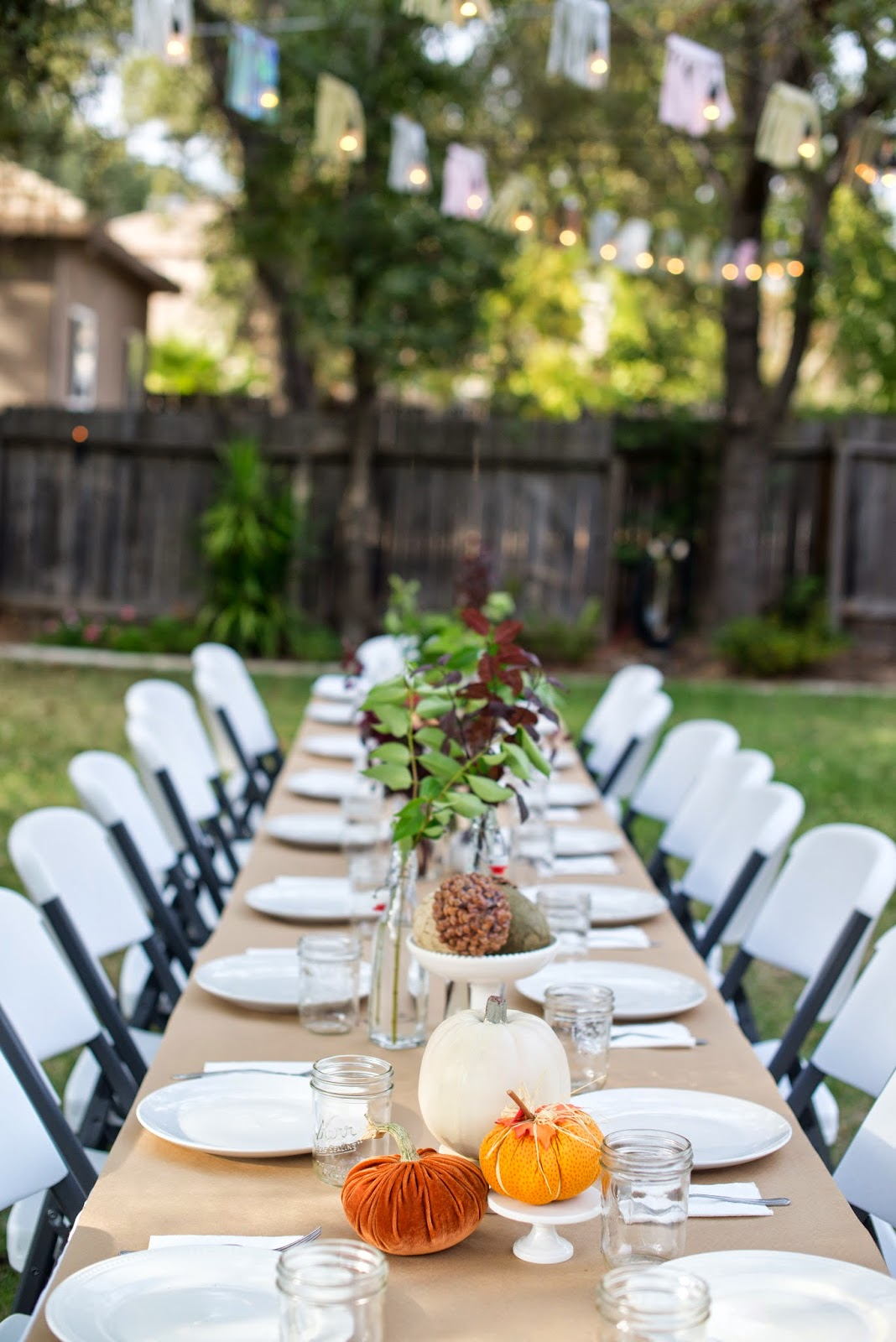 Domestic Fashionista Fall Backyard Entertaining Birthday