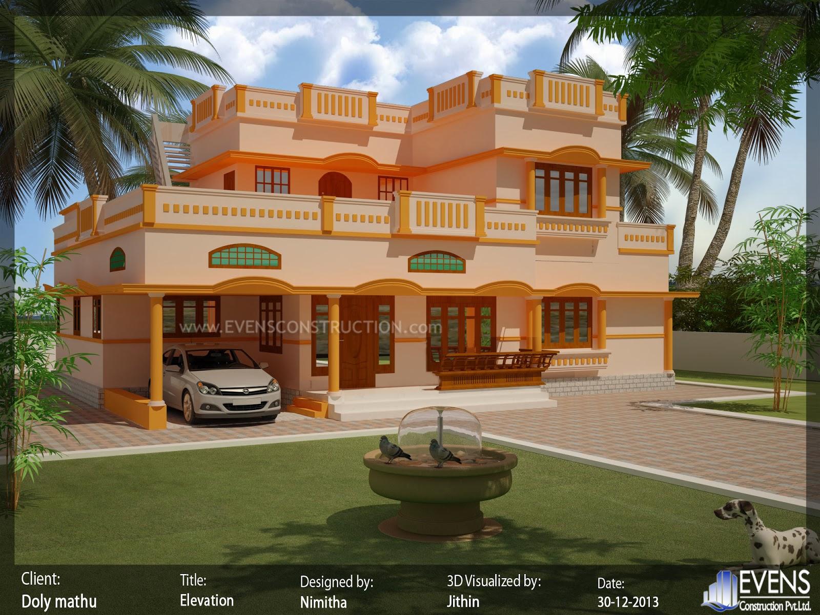 Evens construction pvt ltd flat roof modern house design for Modern design building services ltd