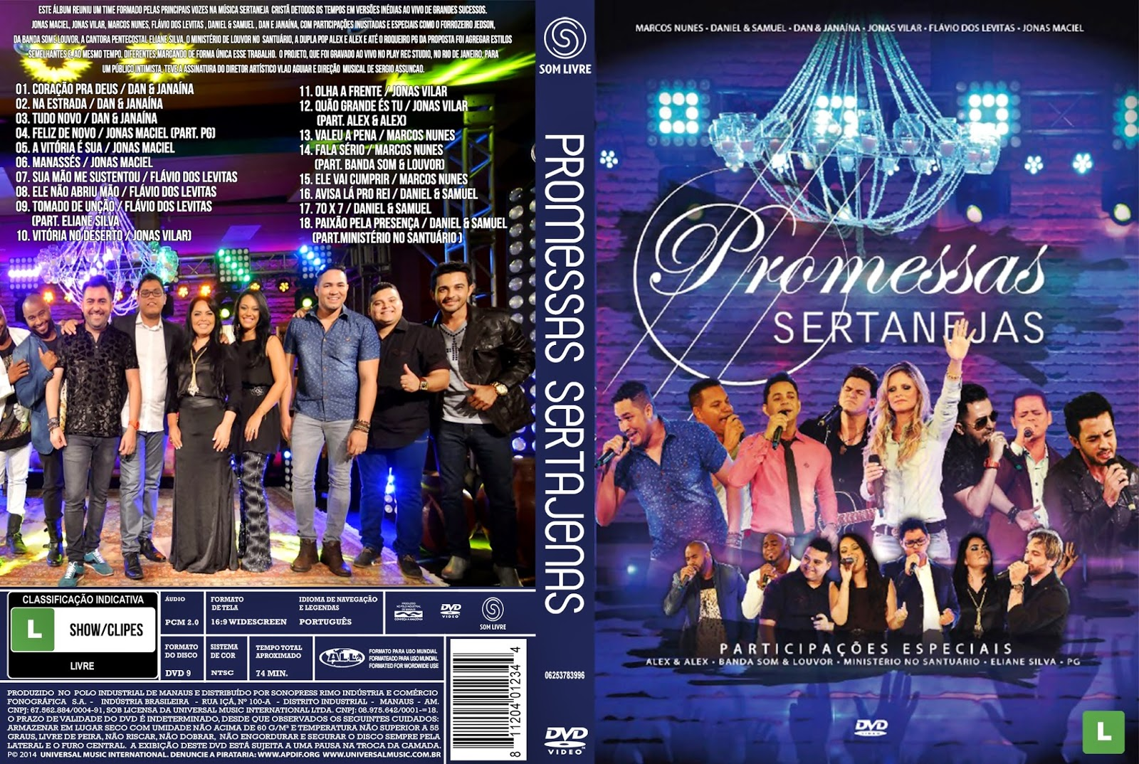 Download Promessas Sertanejas DVD-R Promessas 2BSertanejas