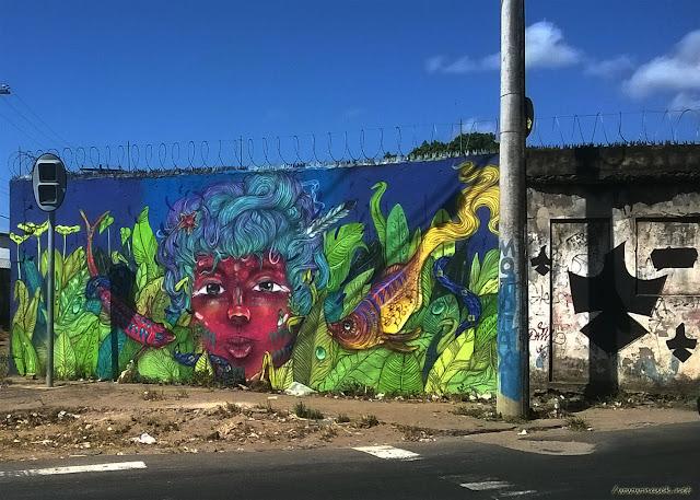 Grafites registrados em Pirajá, Salvador - Bahia