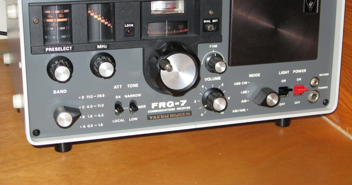 Shortwave Listener Site - ZS1JHG: Yaesu FRG-7 Communications Receiver  Product Review
