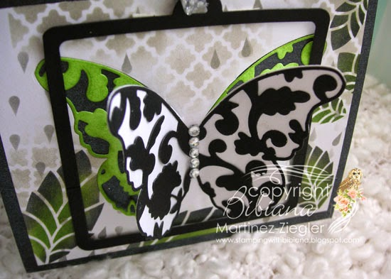 top view partial die cutting black butterfly