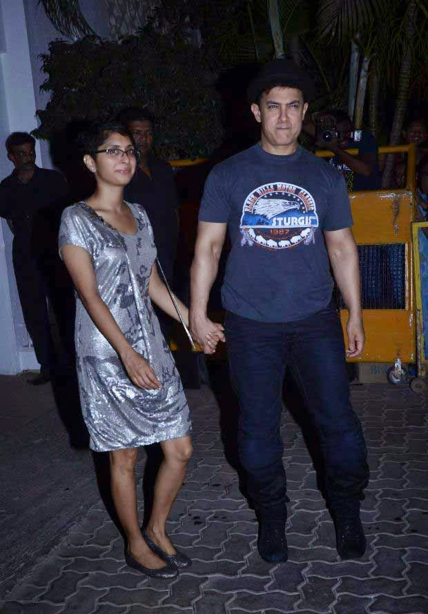 Kiran Rao and Aamir Khan at Karan Johar Birthday party