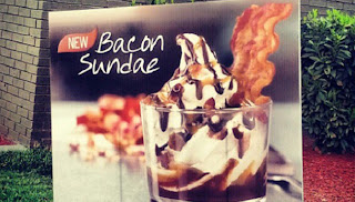 Sundae de bacon.