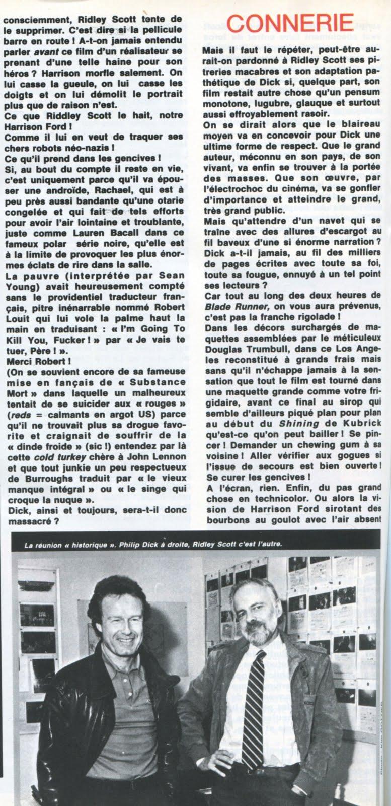 METAL HURLANT (Sept 1982) Blade Runner LA+SECONDE+MORT+PHILIP+K.+DICK+5