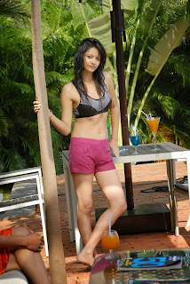 Monika Singh in Sizzling Shorts and Bikini Top from movie Ee Manase Movie