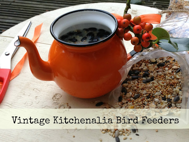 Vintage Kichenalia Bird Feeders
