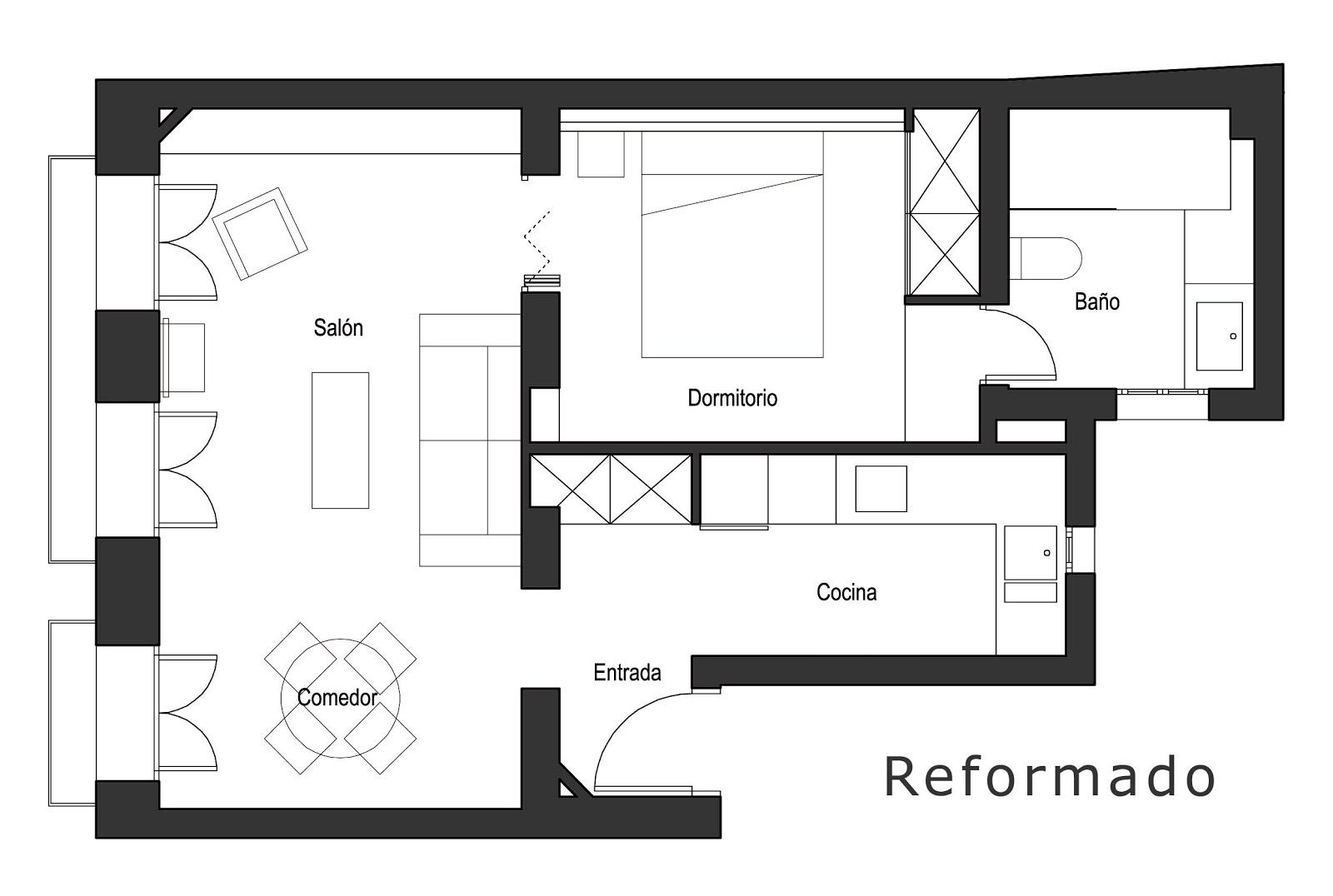 daniel paya dise o de interiores arquitectura y On como distribuir un departamento pequeño
