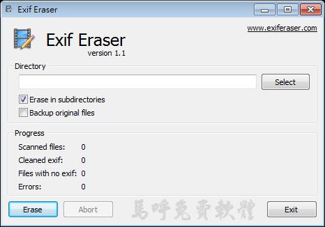 隱藏、清除照片EXIF資訊(拍照日期、時間):Free EXIF Eraser 免安裝,去除EXIF、拍攝模式、光圈、快門、ISO值