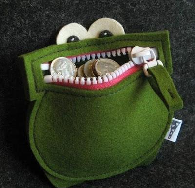 Żaba portfel Eco manufaktura