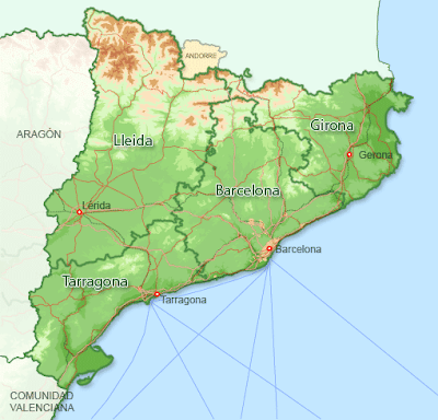 Cataluña Map Picture