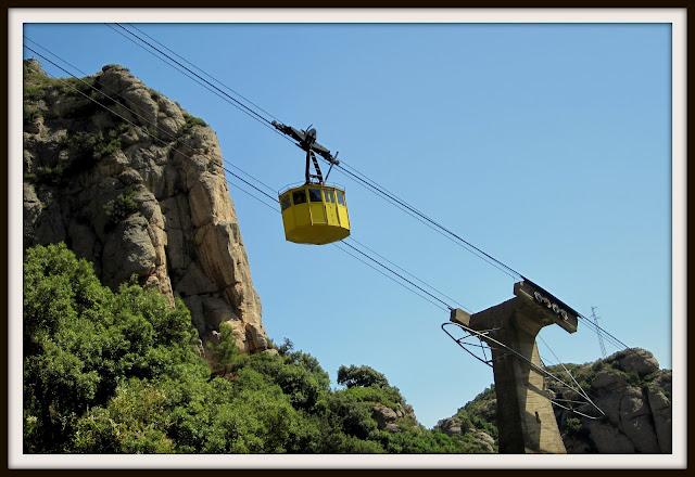 aereo cremallera tren montserrat monasterio