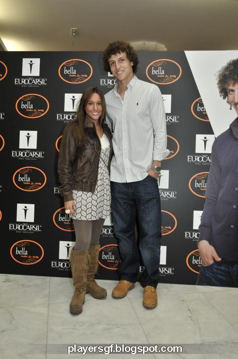 David Luiz and Sara Madeira David Luiz And Girlfriend