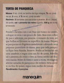 RECEITAS PRÁTICAS: TORTA DE PANQUECA