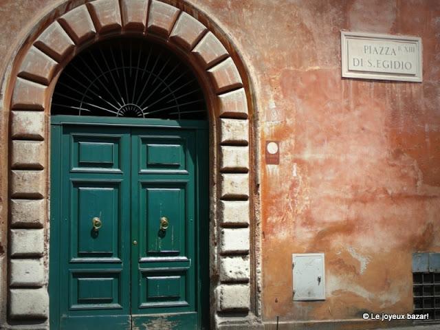Le quartier du Trastevere à Rome