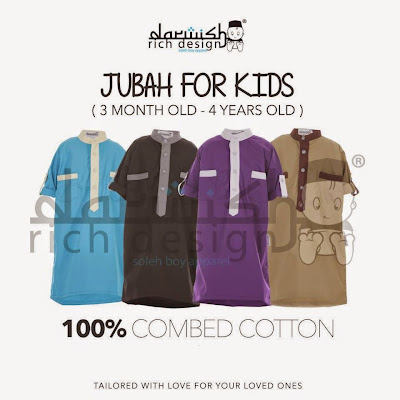 Jubah Baby, Jubah Moden, Jubah for Kids