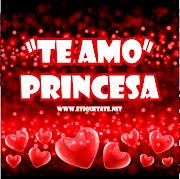 Fotos con mensajes de Amor para  te amo princesa