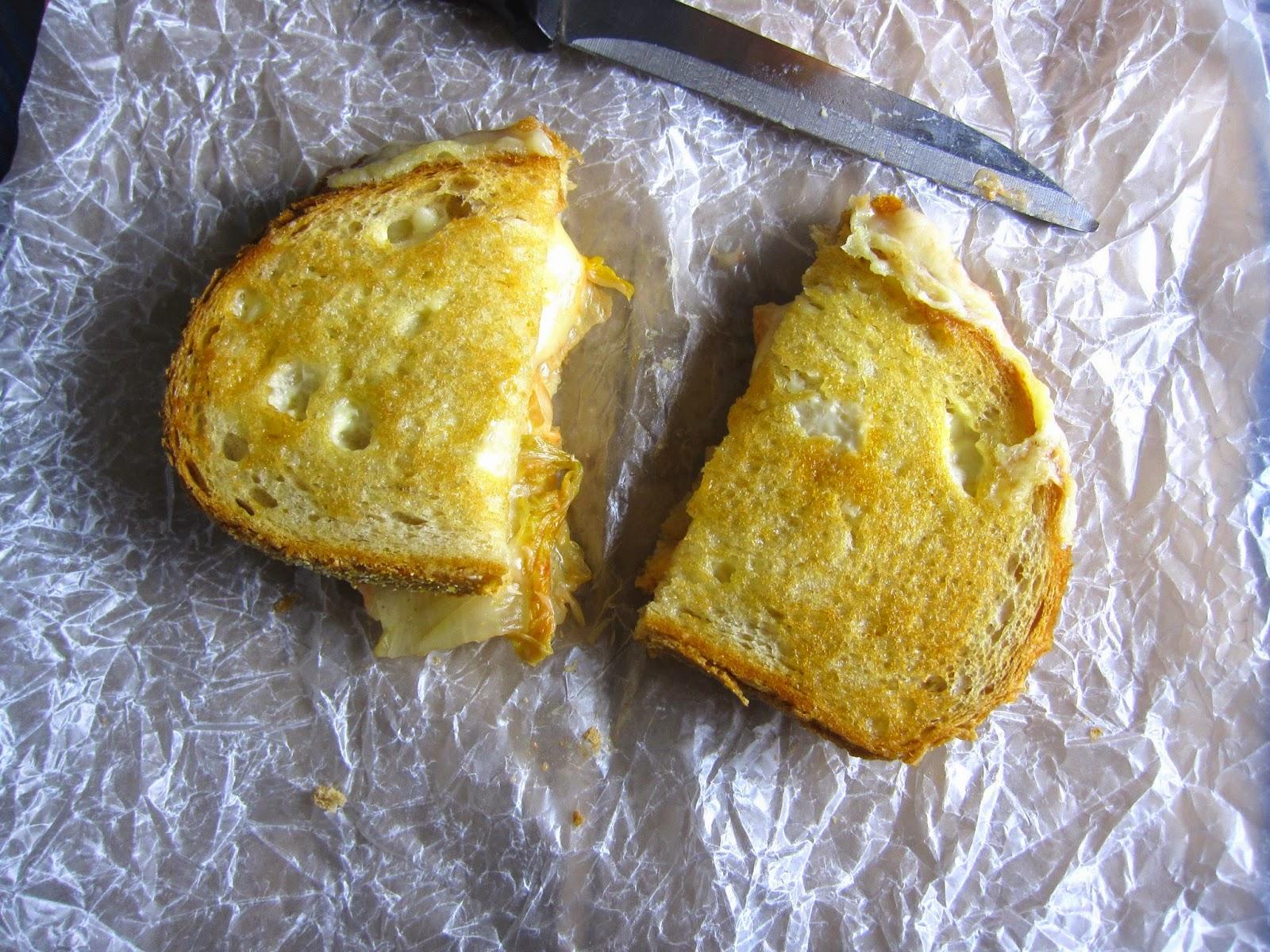 Kimchi Grilled Cheese Sandwich
