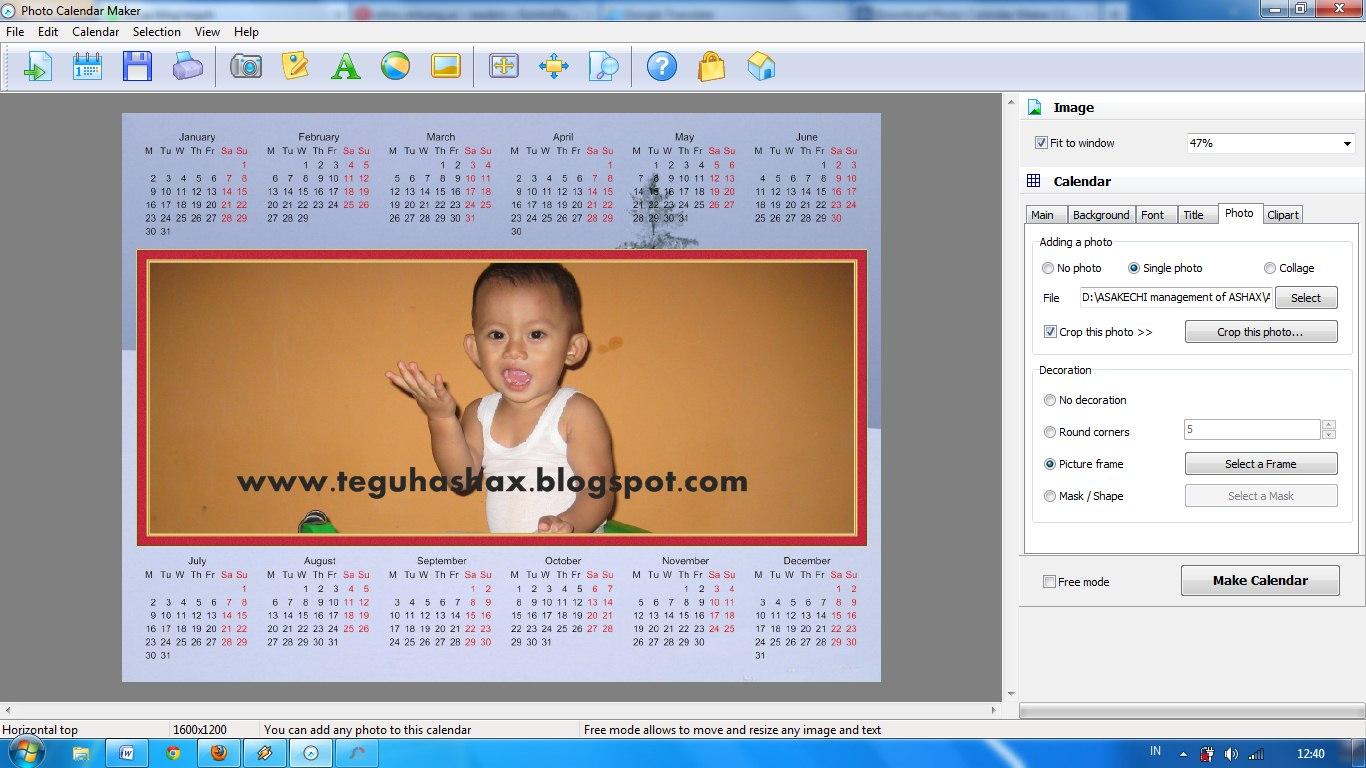 """Cara membuat kalender foto sendiri dengan mudah menggunakan """"Photo ..."""