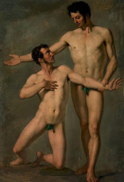 Cuerpos en el tiempo Francois-xavier-fabre-dos-hombres-des-nudos-obras-maestras-de-la-pintura-juan-carlos-boveri