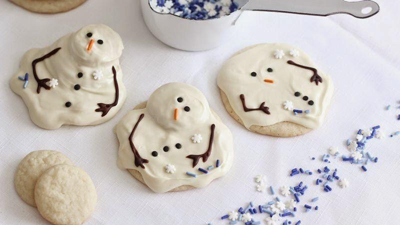 melting snowmen olaf cookies