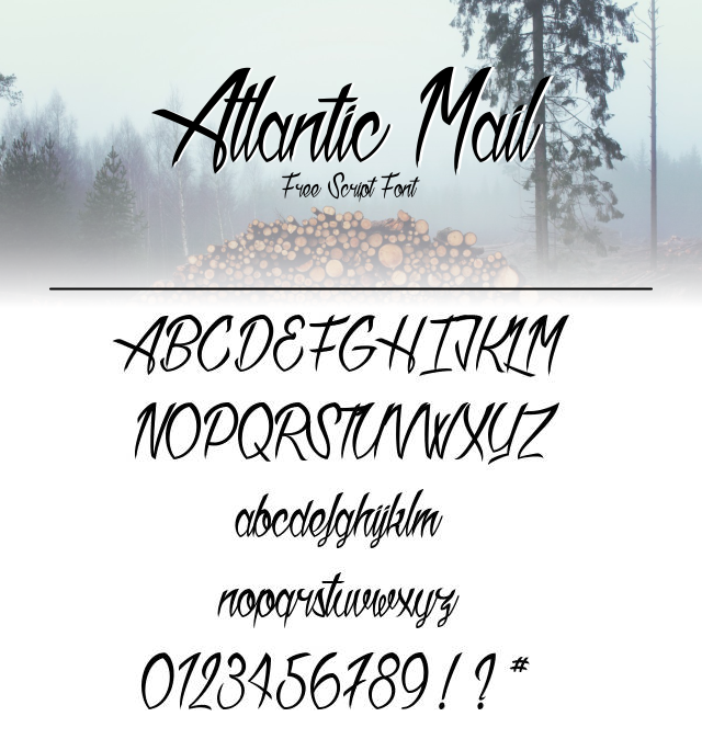 35 Font Script untuk Desain grafis - Atlantic Mail