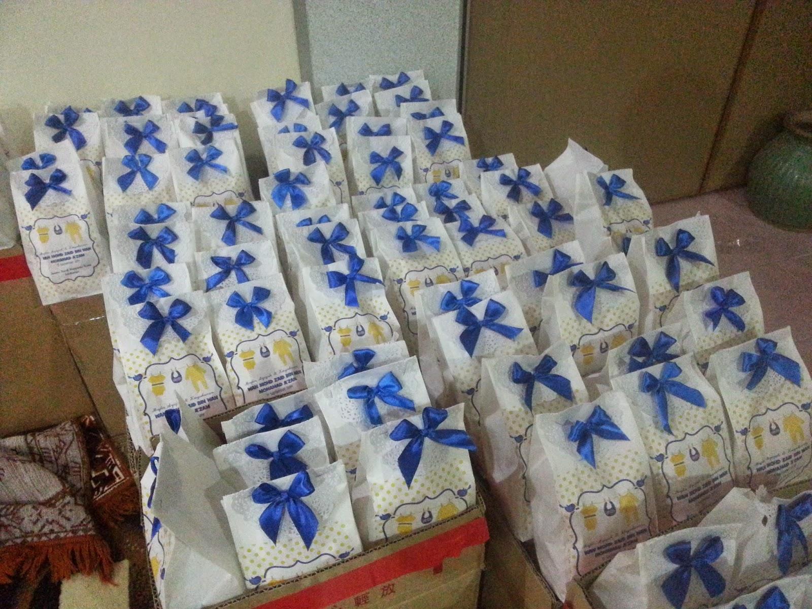 tempahan paper bag sebagai godies bag untuk majlis aqiqah