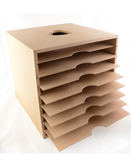 Paula pascual my paper and cardstock crafty storage for Mueble organizador