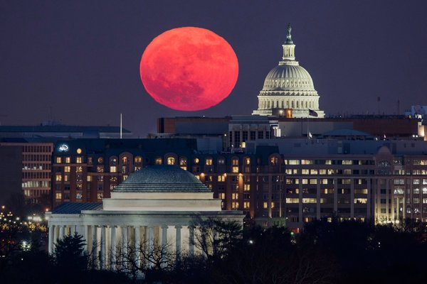 Blood Moon over Capitol