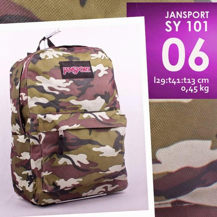 jual online tas jansport murah bahan kanvas motif army/ loreng