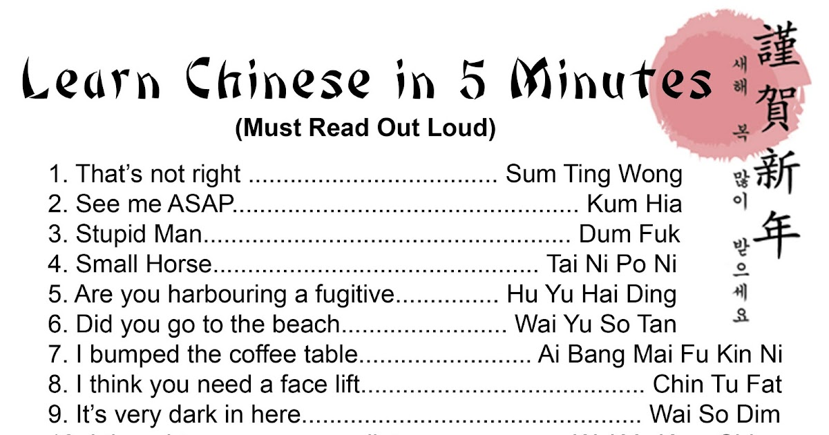 Wicked Yolk: Learn Chinese in 5 Minutes