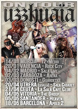 Conciertos de Uzzhuaia en Vitoria, Santander y Barcelona en Mayo