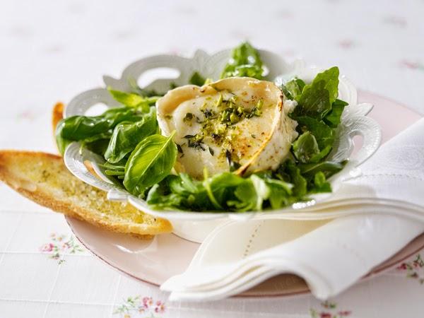formaggio di capra basilico e rucola