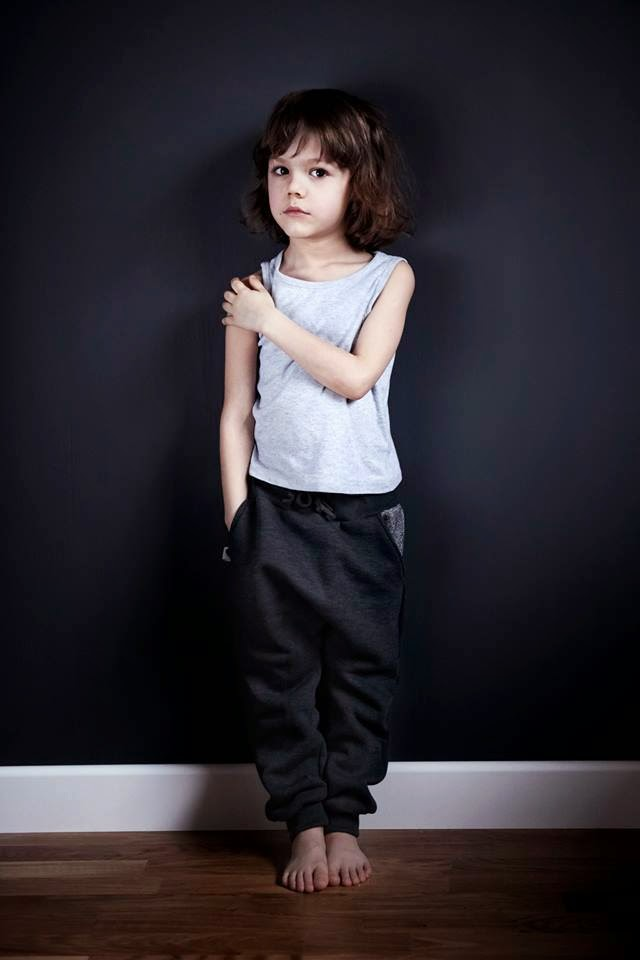 Handmade sweatpants by Polish kidswear brand Kujukuju