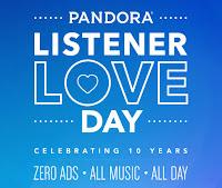Pandora Listener Love Day image