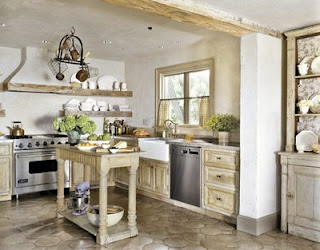 small rustic french kitchen design