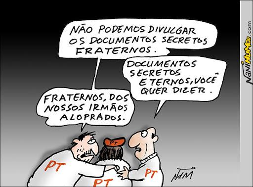 PT preocupado com os documentos secretos fraternos