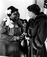 Hattie McDaniel Receives Oscar from Fay Bainter, 1940