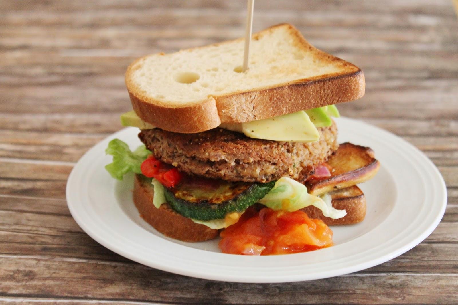 Glutenfreier vegetarischer Burger